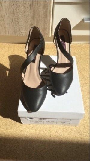 Schwarze High-heels Pumps