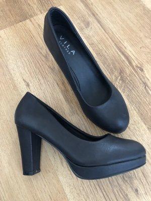 schwarze High Heels Pumps Vila