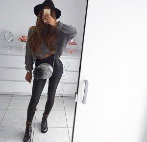 Schwarze high skinny jeans