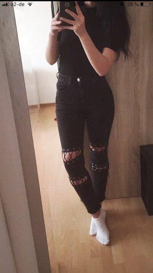Asos Pantalone a vita alta nero
