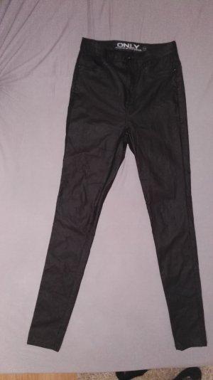Schwarze high-waist-Hose
