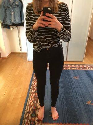 Schwarze High Waist Hose Größe S (Stretch)