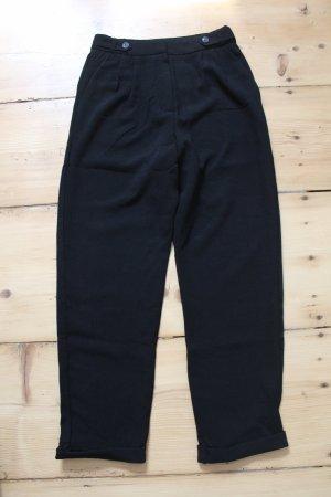 Pull & Bear Pantalone a vita alta nero