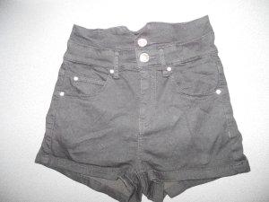 schwarze High-Waist-Hotpants/Shorts, Tally Weijl, Gr. XXS (32), passt auch bei XS!