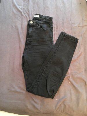Schwarze High Waist Jeans