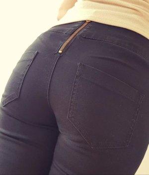 Schwarze High Waist Leggings Jeans 36/38