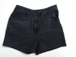 schwarze High-Waist-Shorts Jeans