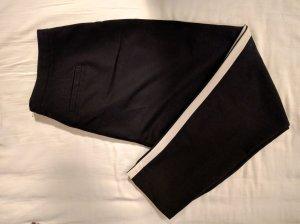 Schwarze High Waist Smokinghose mit weißem Seitenstreifen