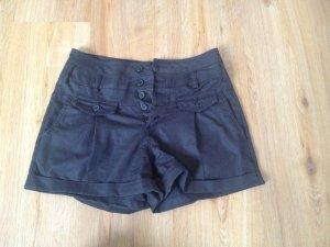 Schwarze High waisted Shorts