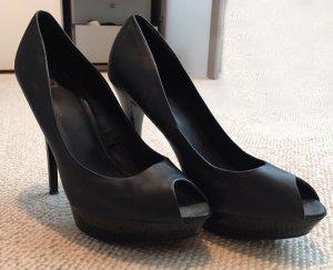 High Heels black imitation leather