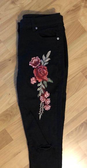 Parisian Pantalon taille haute multicolore
