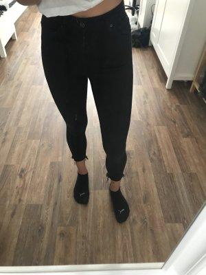 Schwarze Highwaist Topshop Jeans