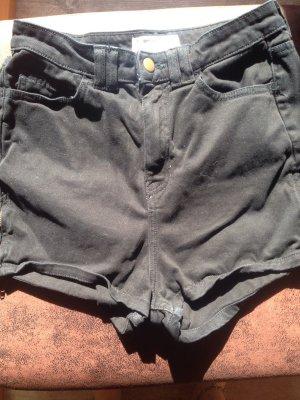 Schwarze Highwaisted Jeans Shorts von American Apparel