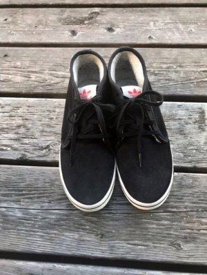 Schwarze hohe Leder Sneaker  von Adidas
