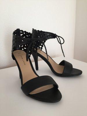 schwarze hohe Sandalen Marke New Look