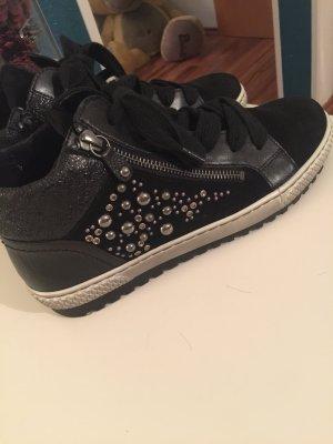 Schwarze hohe Sneaker Gabor
