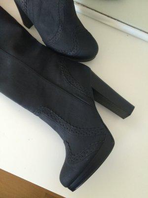 Schwarze hohe Stiefel mit Plateau von H&M