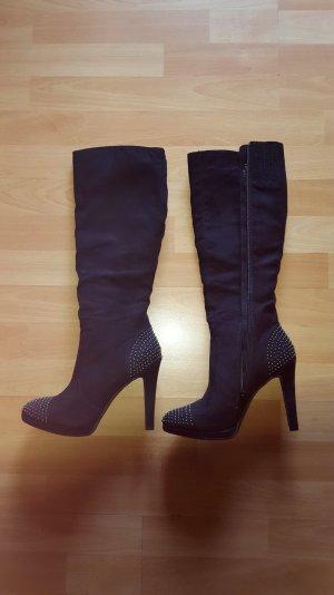 Schwarze hohe Stiefel neuwertig
