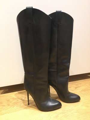 schwarze hohe Stiefel von Tom Ford