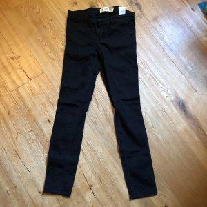 Hollister Pantalón de tubo negro