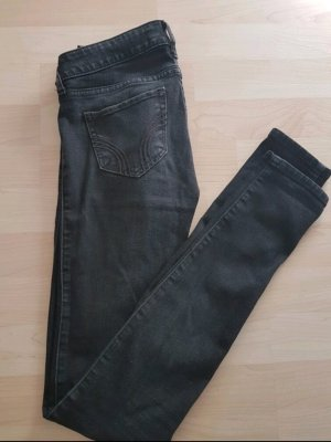 Schwarze Hollister Super Skinny Jeans