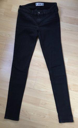 Schwarze Hollister Super Skinny Jeans 5L W27 L33