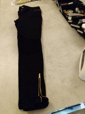 H&M Jeggings nero-oro