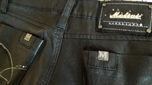 Mötivi Pantalon cinq poches noir-argenté lycra