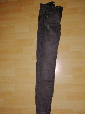 Pull & Bear Pantalón elástico negro-gris antracita