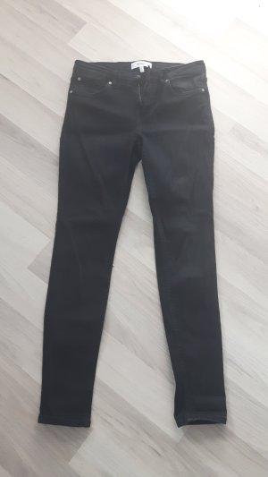 Mango Basics Low-Rise Trousers black cotton