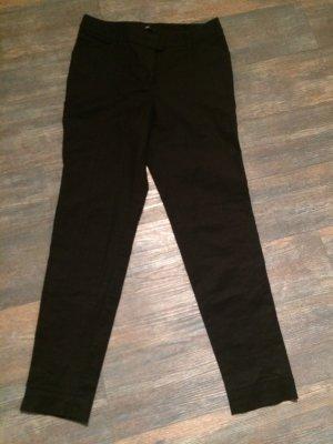 H&M Drainpipe Trousers black-silver-colored