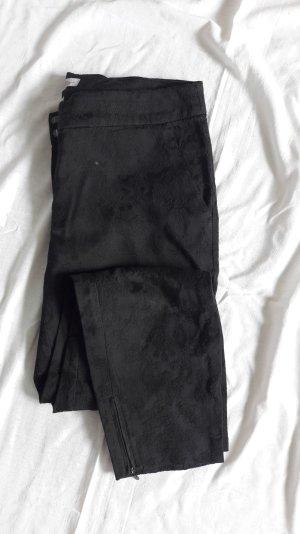 schwarze Hose Allover Steppungen S.Oliver 40