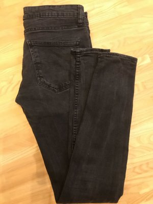 Zara Woman Jeans taille basse noir-gris anthracite