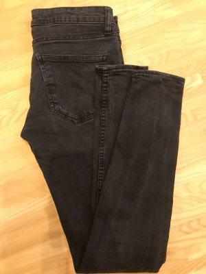 Zara Woman Low Rise Jeans black-anthracite