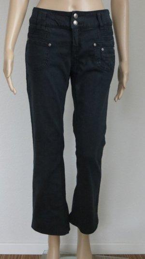 Schwarze Hose in Jeans-Optik