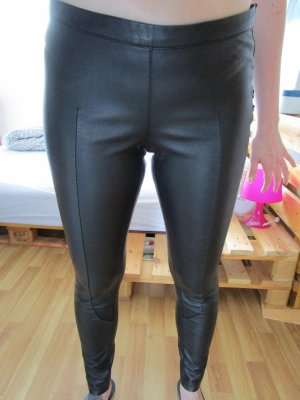 schwarze Hose/Leggings in Lederoptik