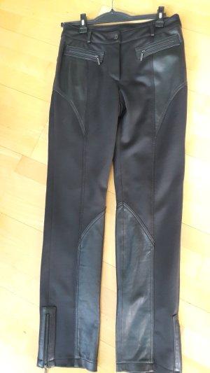 Schwarze Hose mit Leder Gr.38