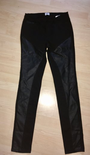 Vero Moda Leather Trousers black