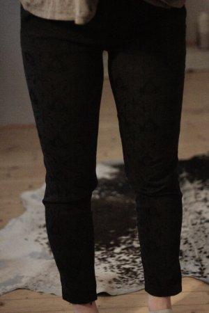 Zara Pantalon noir coton