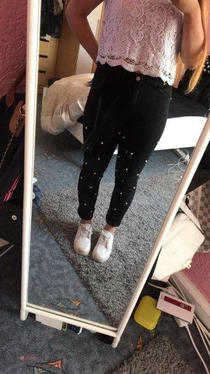 SheIn Pantalón de cintura alta negro