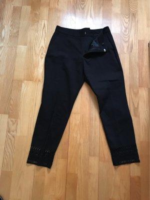 Zara Basic Stoffen broek zwart