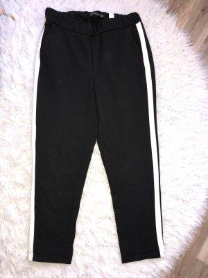 Zara Pantalon noir-blanc