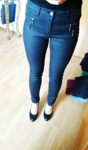Schwarze Hose von Only im leichten Lederlook