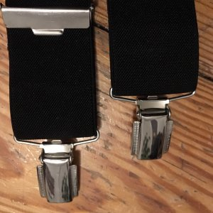 H&M Suspenders black