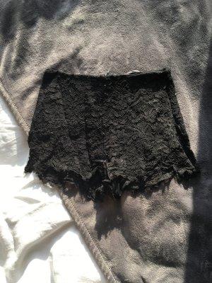 Schwarze hotpants aus spitze kurze Hose Short  hot pants high waist sexy