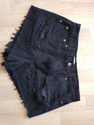 schwarze Hotpants Größe 40