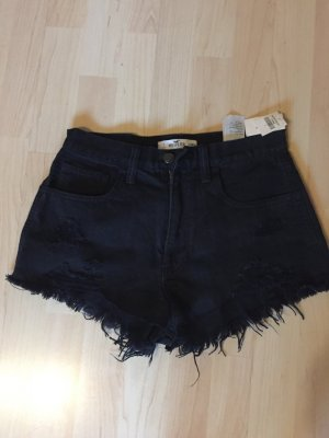 schwarze Hotpants Hollister