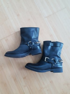 Inuovo Slip-on Booties black leather
