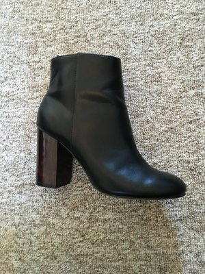 Booties multicolored imitation leather