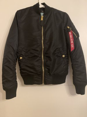 Alpha Industries Bomber Jacket black-gold-colored